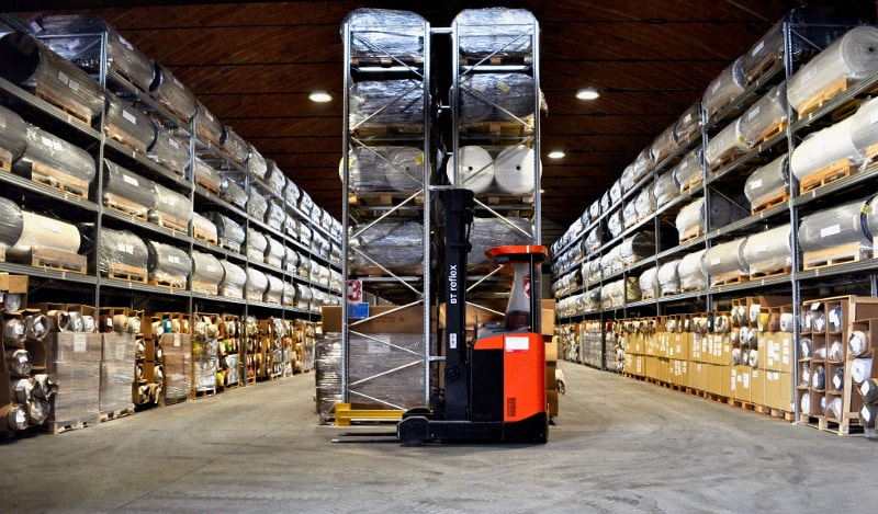 warehouse logistics forklift dani italy